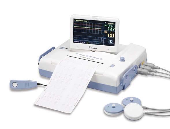 Magzatmonitor készülék ikerterhesség monitorozására LCD kijelzővel