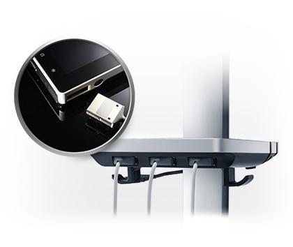 Hordozható ultrahang készülék micro vizsgálófej csatlakozóval