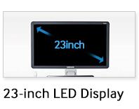 """23""""-os Full HD felbontású LED monitor"""