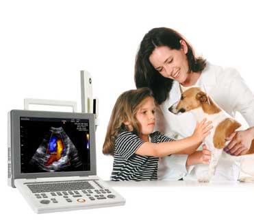 Hordozható color, power, pulzus Doppler állatorvosi ultrahang készülék