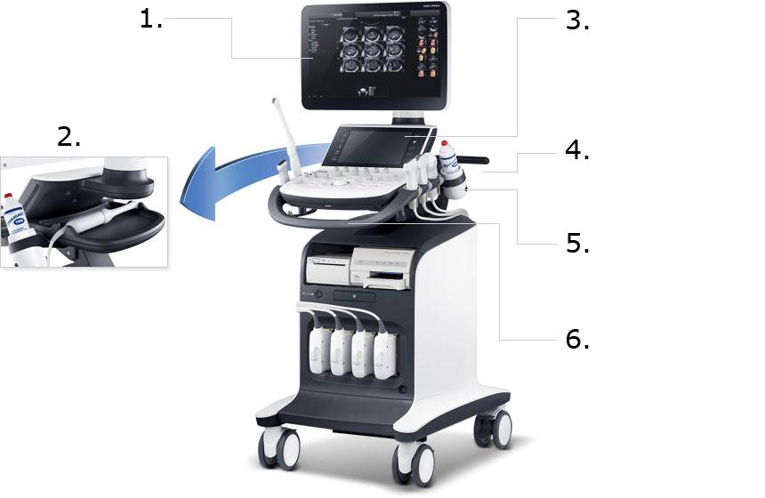 WS80A ultrahang készülék - stresszmentes teljesítmény az ergonómikus kiegészítőkkel